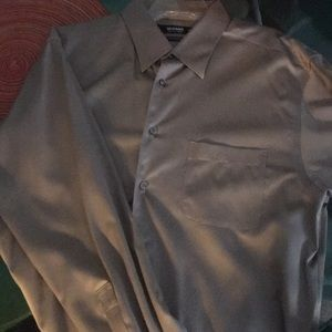 Liquid cotton long sleeve mens button down